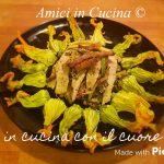 Carbonara di zucchine e straccetti di pollo