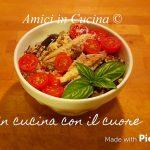 Cous cous con lenticchie, pomodorini, melanzane e sgombro