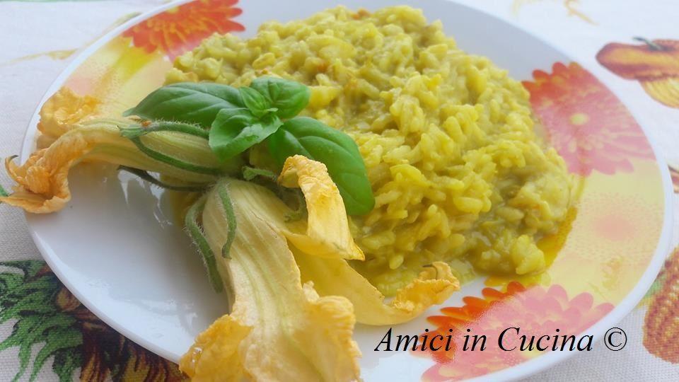 risotto fiori zucchine e scamorza