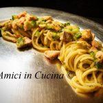 Spaghetti con salmone fresco e crema di zucchine