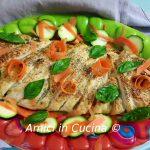 Treccia di sfoglia con zucchine, pesto e formaggi