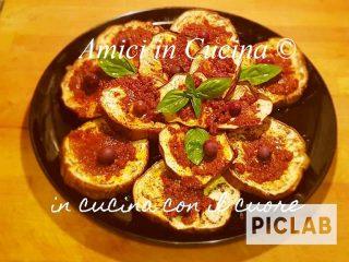 Melanzane grigliate con pesto di pomodori secchi