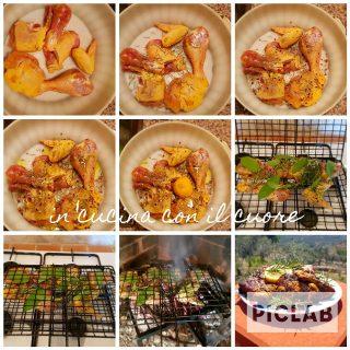 Pollo alla brace marinato con spezie e limone