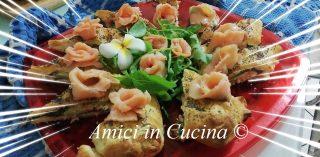 Sfoglia con salmone, rucola e formaggio spalmabile