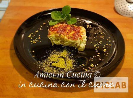 Girelle di lasagne al pistacchio con ricotta
