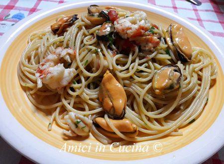 Spaghetti cozze e gamberoni