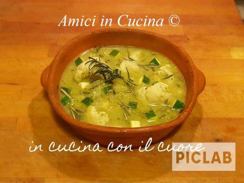 Zuppa zucchine e cavolfiore