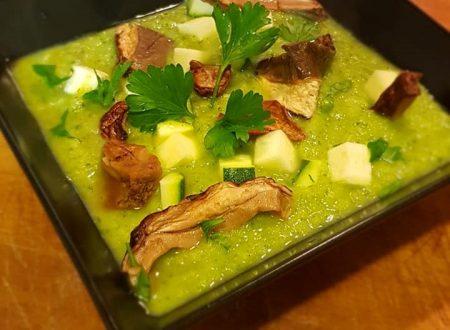 Zuppa zucchine e porcini