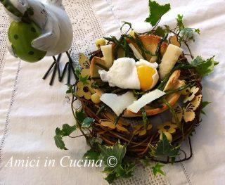 Cestini di pane Uova ed Asparagi