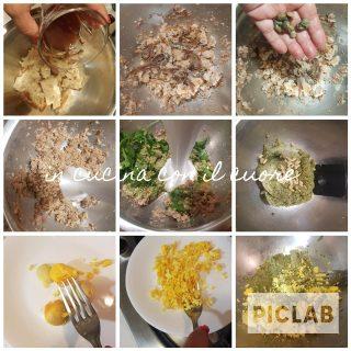 Insalata fredda di fricelli alla salsa verde ed uova