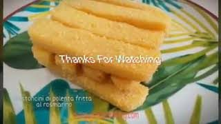 I bastoncini di polenta fritti