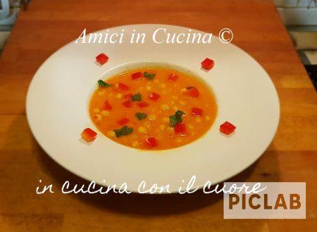 Zuppa ceci e peperoni rossi