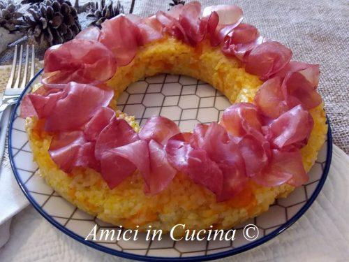 Corona salata di riso al forno