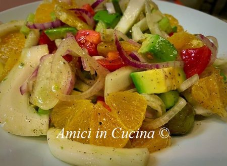 Insalata Avocado, arancia, cetriolo ……..