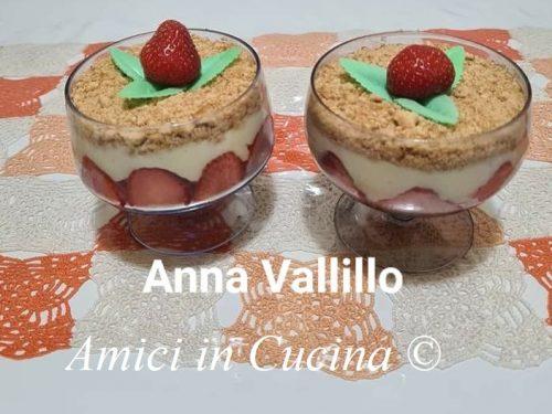 Dessert con fragole
