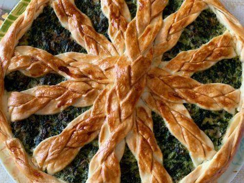 Torta rustica di spinaci e ricotta
