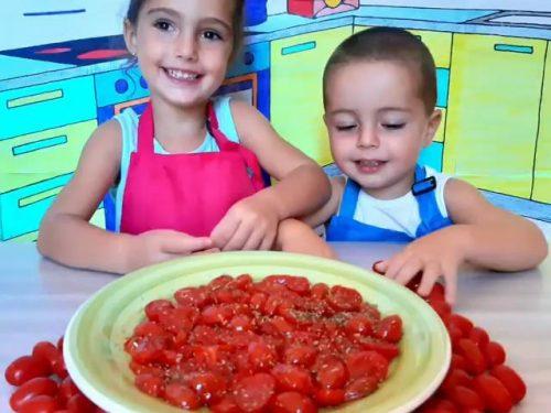 Pomodorini confit in padella