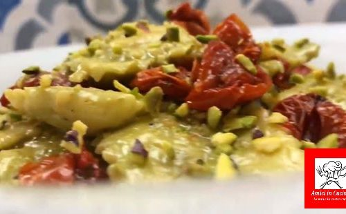 Ravioli con pesto di pistacchi – Video