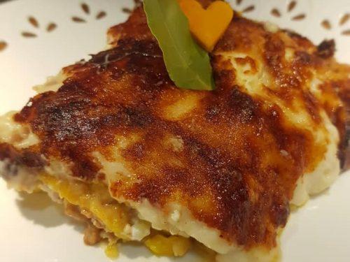 Lasagne di zucca con salsiccia ricotta e provola