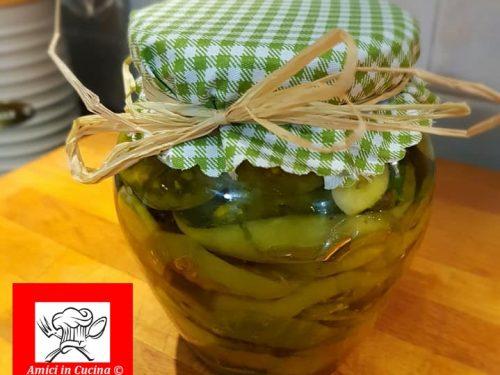 Pomodori verdi sott'olio
