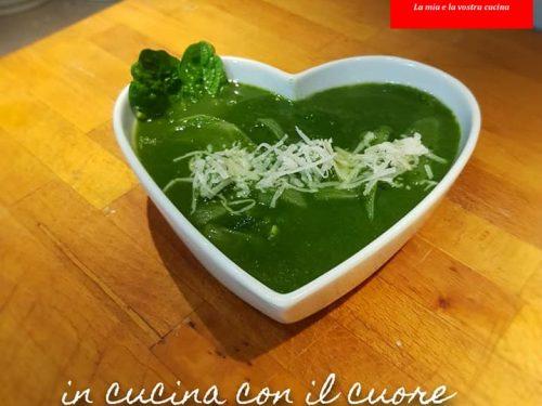 Vellutata di spinaci e cipolle