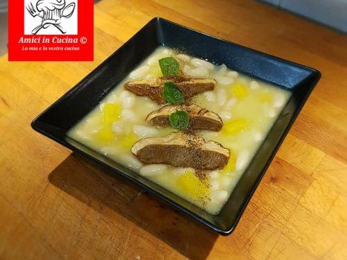Zuppa di cannellini patate e porcini