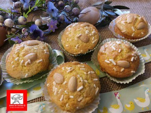Muffin colomba glassati