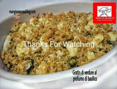 Gratin di verdure al sapore di basilico – video