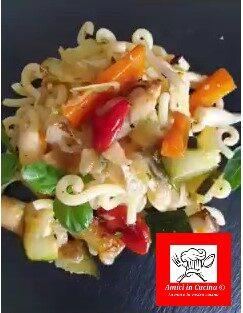 Tortino di gramigna con verdure al forno