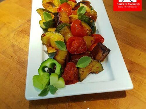 Zucchine patate pachino e nduja