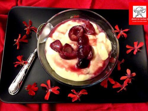 Coppa crema di mascarpone e ciliegie