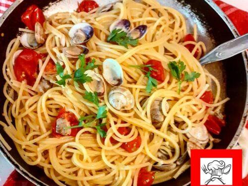 Spaghetti con lupini di mare