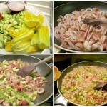 Risotto con totani e zucchine