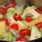 Zuppa di broccolo romanesco e patate