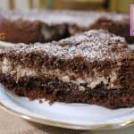 Sbriciolata al cacao con ricotta e nutella