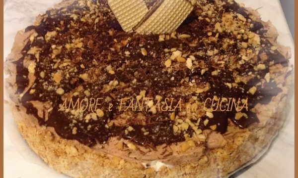 TORTA FREDDA CON NUTELLA E WAFER