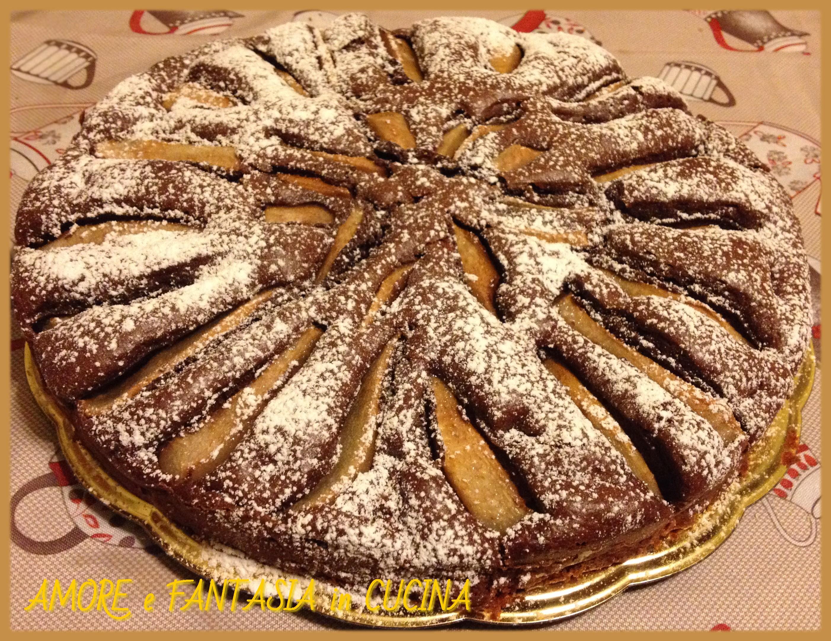 torta di cioccolato e pere 7