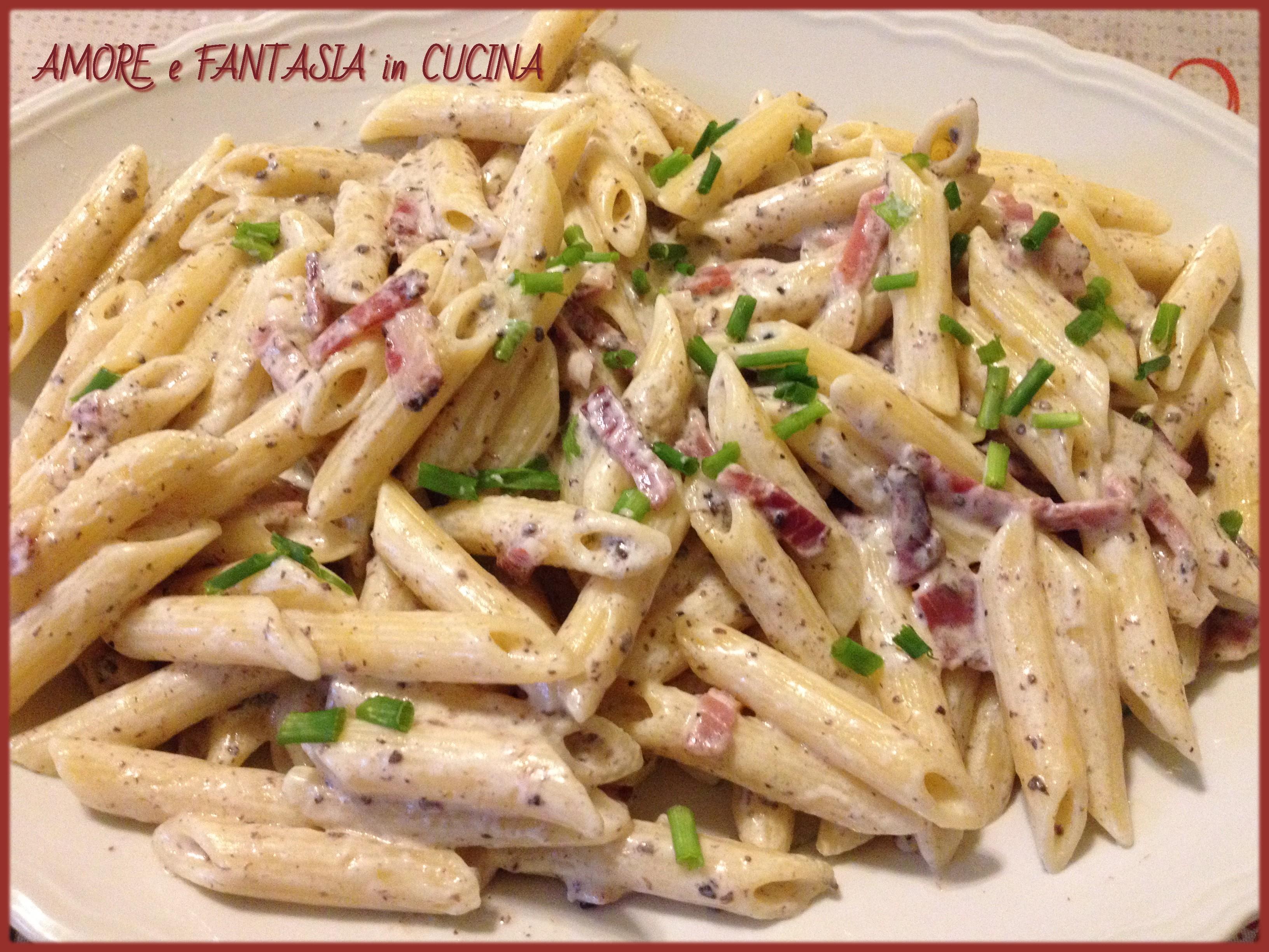 Ricette pasta con philadelphia al tartufo