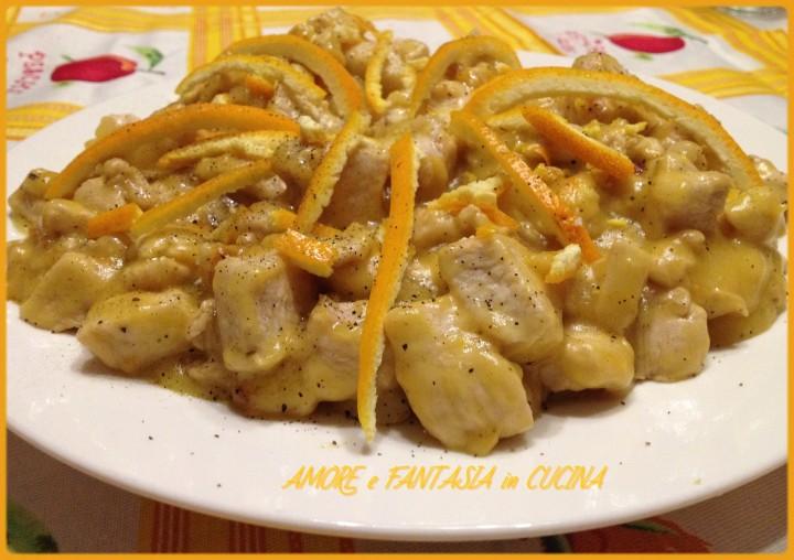 bocconcini di pollo in crema di arancia 2