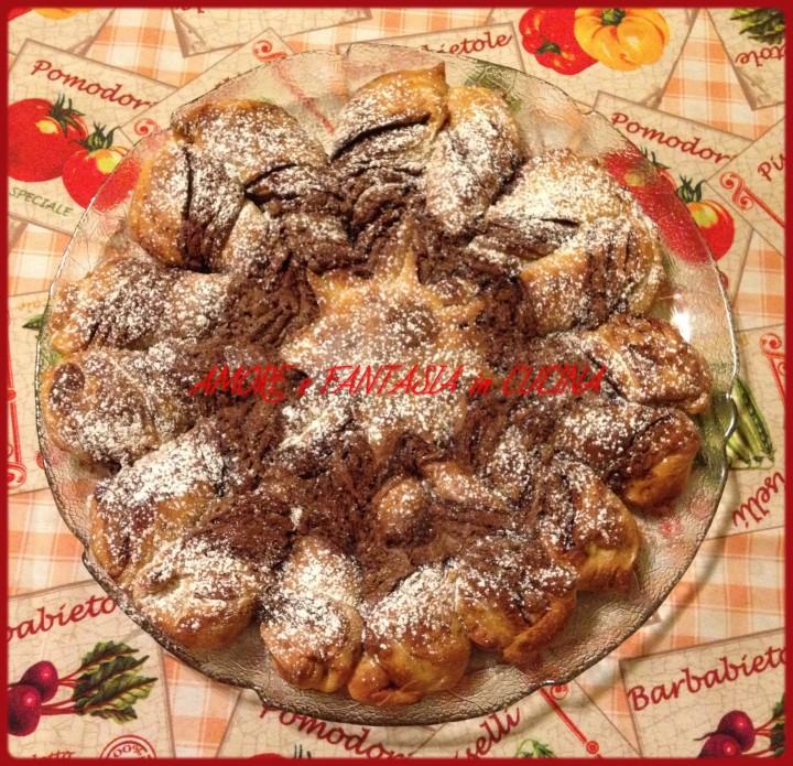 fiore di pan brioche alla nutella 2
