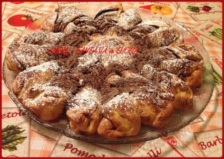 fiore di pan brioche alla nutella 3