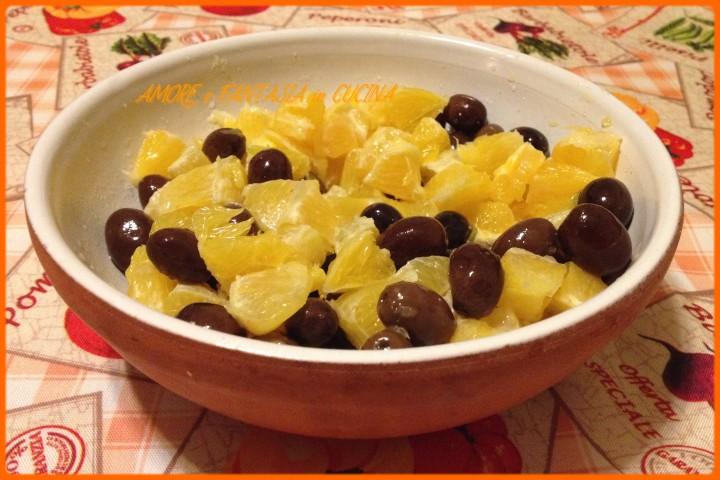 insalata di arance e olive nere