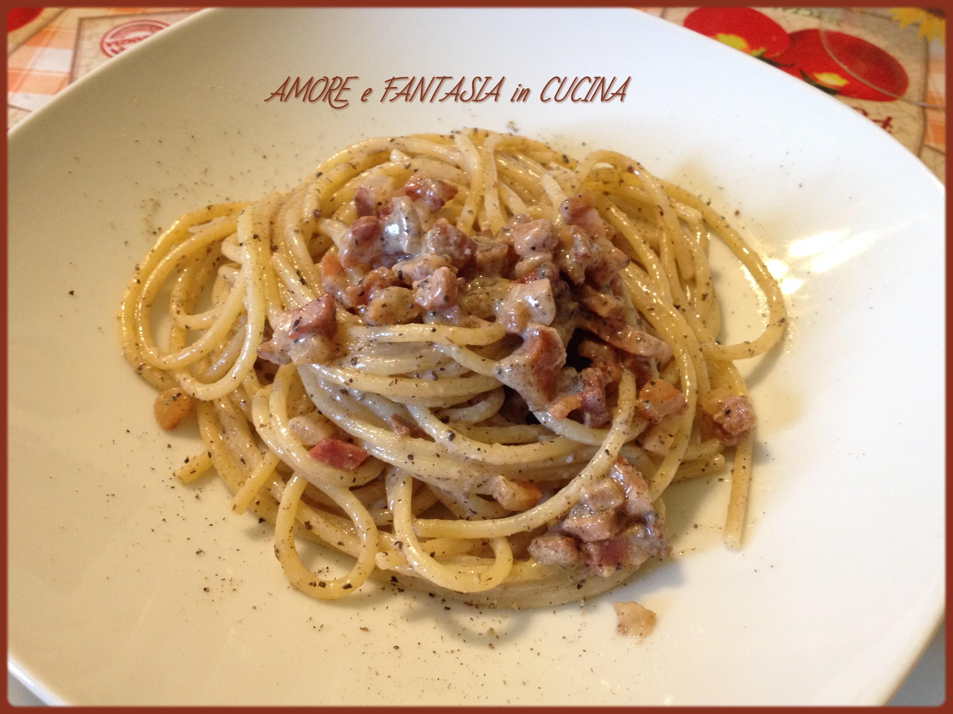 Ricetta Gricia Con Salsiccia.Pasta Alla Gricia Con Tartufo Amore E Fantasia In Cucina