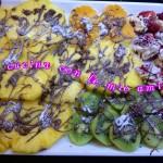 Frutta con cioccolato fuso