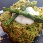 Flan di asparagi sù fonduta di gorgonzola