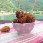 Bocconcini di pollo con granella di pistacchi