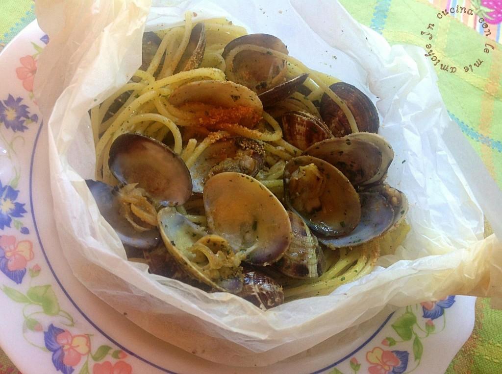 image43 1024x764 Spaghetti con le vongole al cartoccio