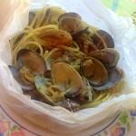 Spaghetti con le vongole al cartoccio