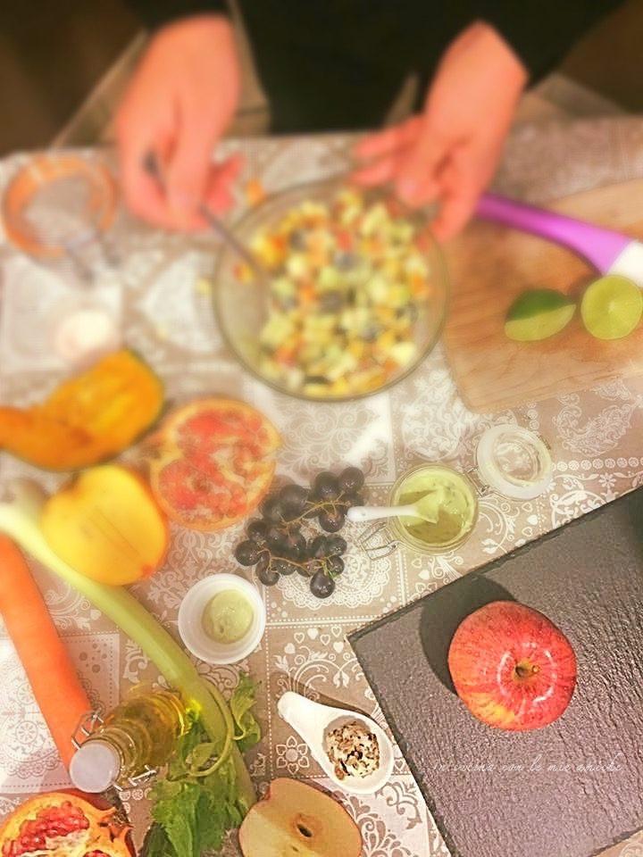 IMG 4453 720x960 Insalata invernale di frutta con salsa al basilico
