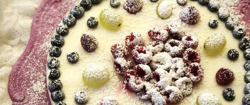 Torta fredda al cocco e cioccolato bianco